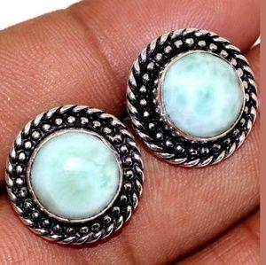 Larimar Gemstone Earrings